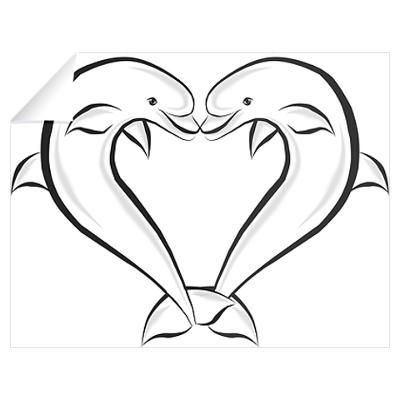 dolphin heart drawing - Google Search | home decoration ...