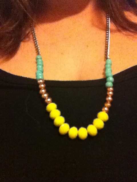 Stunning oversized colourful beaded necklace by SapphiresandSilver, $34.99