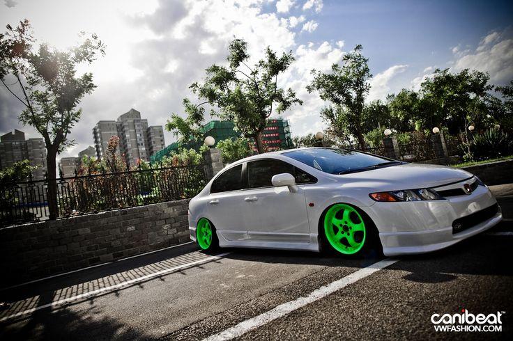 Neon Green Color Series Honda Civic Canibeat