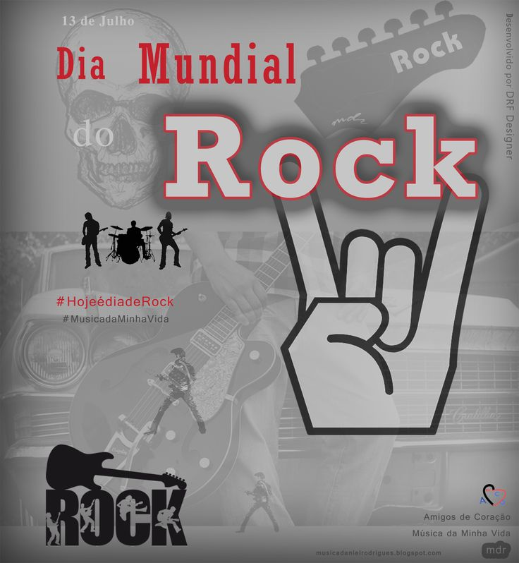Arte Dia Mundial do Rock - mdr