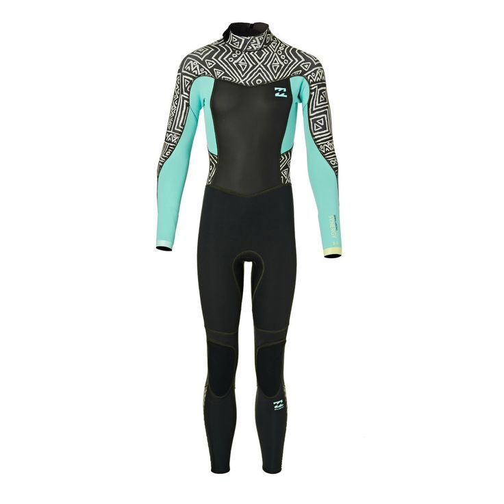 Billabong Girls Synergy 3/2mm 2017 Back Zip Wetsuit - Geo Diamond