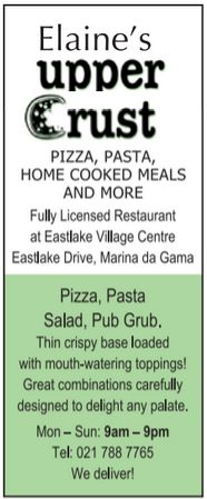 Elaine's Upper Crust - Muizenberg - Cape Town - When looking for a great pizza or a drink visit Elaine's Upper Crust and have a great time! #Elaines #Muizenberg #pizza