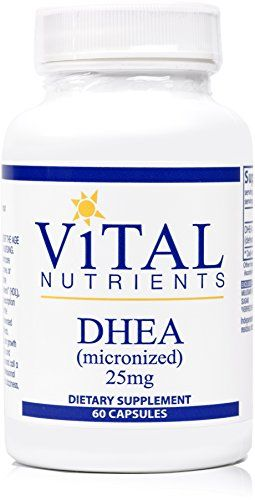 Vital Nutrients - DHEA (Micronized) 25 mg - Most Abundant Adrenal Steroid Hormone in the Body - 60 Capsules * Click on the image for additional details.