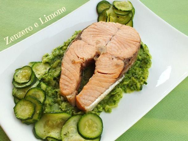 salmone con zucchine -