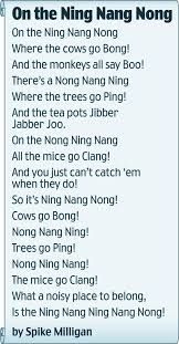 funny poem by Spike Milligan!