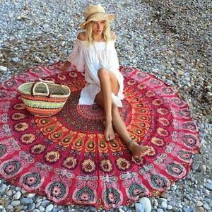 Ibiza-Strandtuch-Peacock-Print-Red-Boho-Beach-Blank-in-rot-Bohemian-Hippie-Tuch