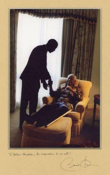 Barack Obama and Nelson Mandela