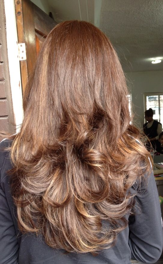 Brown hair With caramel highlights | Hair and make up ...
