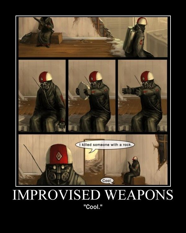 Improvised Weapons by Yora