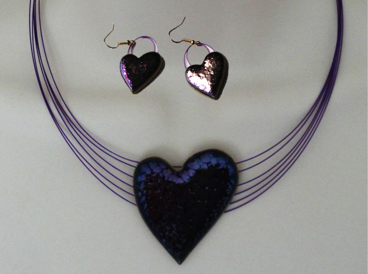 Love necklace and matching ear rings. Indian Jewellery. Handmade glaze – Artikrti