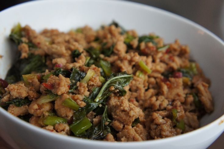 Spicy Basil Chicken Lettuce Wraps recipe - Foodista.com
