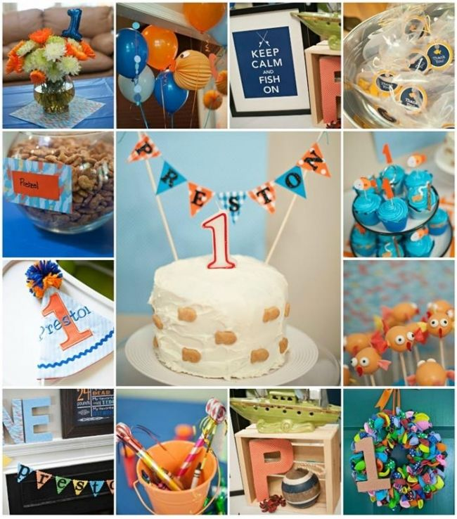 252 best images about boy 39 s fishing birthday party on for Fishing theme party ideas