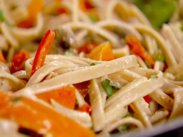 Pasta Primavera. Light summer pasta stuffed with vegetables.