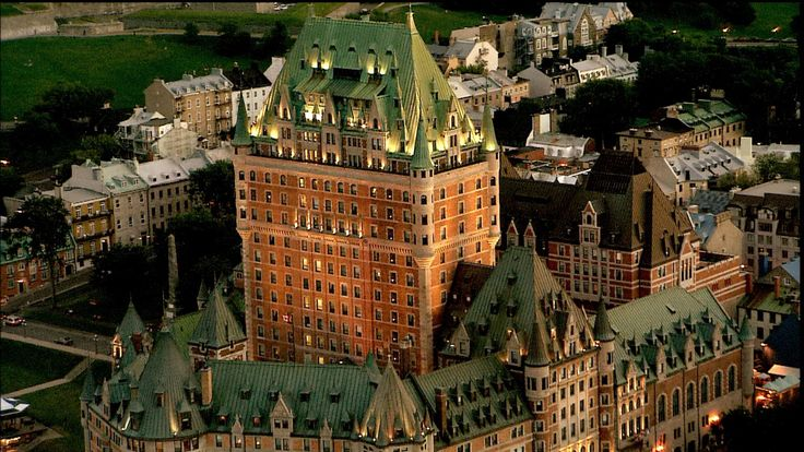 The majestic Chateau Frontenac dominates the Québec City skyline on a summer's eve