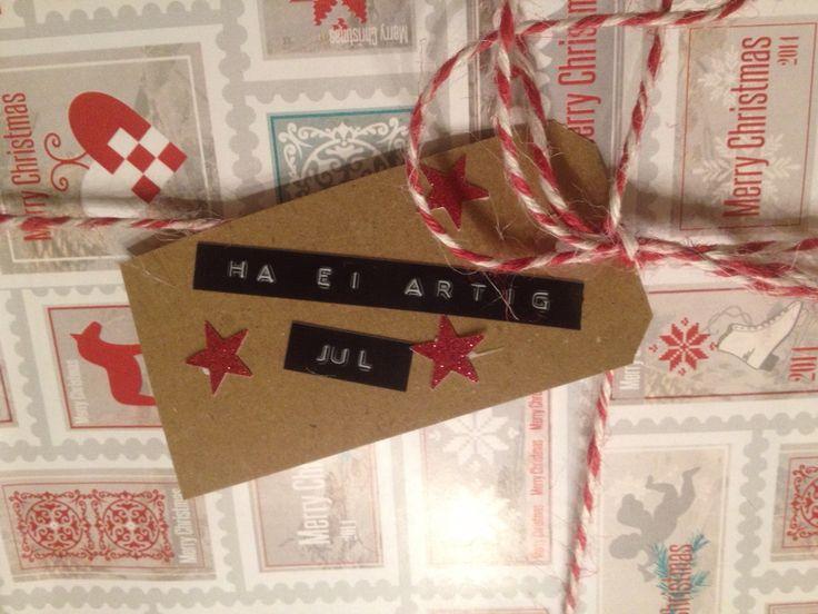 Juletag / pakkelapp / christmas present tag / tag/ DIY / dymo /