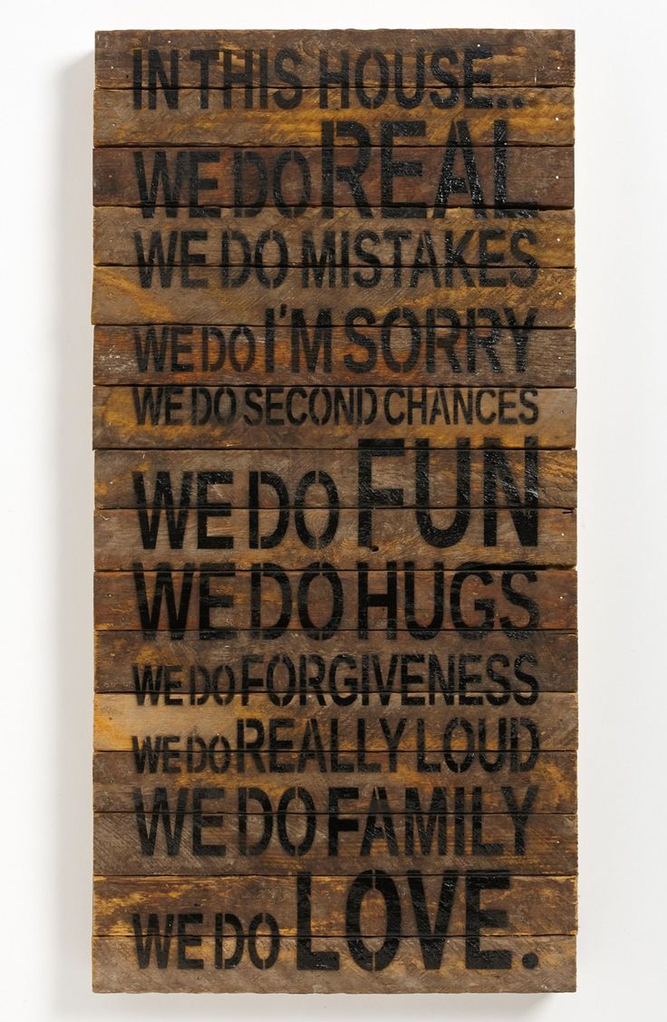 "- Rustic wall art handcrafted from wood repurposed from 100-year-old tobacco laths found on Wisconsin farms features a list of rules to keep your household fun, light and full of love. - 12""W x 24""H.                                                                                                                                                                                  More"