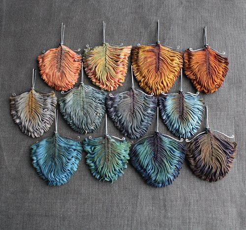 rara avis, the autumn edition | Flickr - Photo Sharing! smocked Jewelry by Eva/Tinctory.  https://www.flickr.com/photos/tinctory/sets/