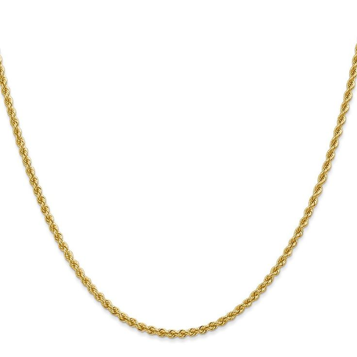 Solid 14k Yellow Gold 2.25-mm Polished Finish Handmade Regular Rope Chain with Lobster Clasp *** Learn more by visiting the image link. (This is an Amazon Affiliate link and I receive a commission for the sales)