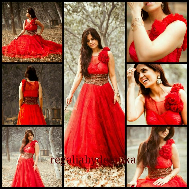 Elegance never fades away !! #A_super #stylish #gown_for_the_bride #attitude... #bespoke_designing #exquisite detailing_on_the_waist #ravishing #red #couturecreation@RegaliabyDeepika  #a_perfect_formal_attire_for_a_sangeet #cocktail_party #modern_bride #delhifashionblog #wedding_diaries #instaglam # best_of_december #be_classy  Seen here on @PujaMehta as styled @GlamnGleam