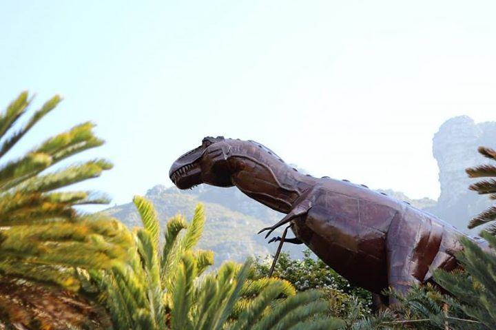 Dinosaur art exhibit.  #jurassicpark #nature #capetown