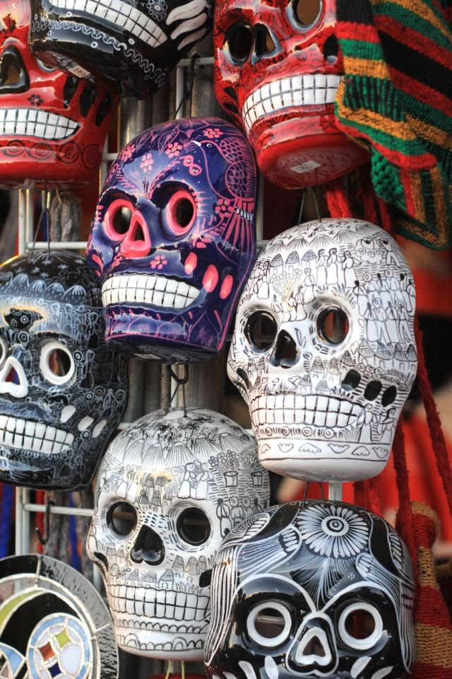 Day of the Dead, Mexico: sugar skulls...hold up, is that a Steeler one???