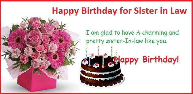 Happy Birthday Sister In Law, Birthday Wishes For Sister