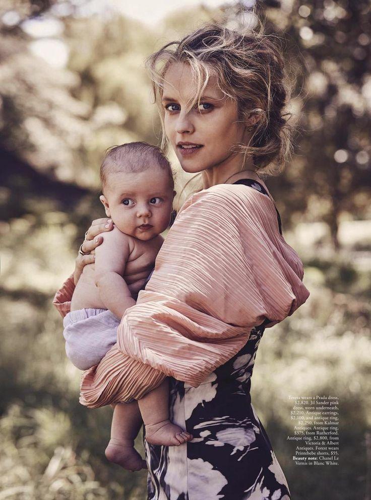 Teresa's Tribe - Teresa Palmer by Nicole Bentley for Vogue Australia May 2017 - Prada