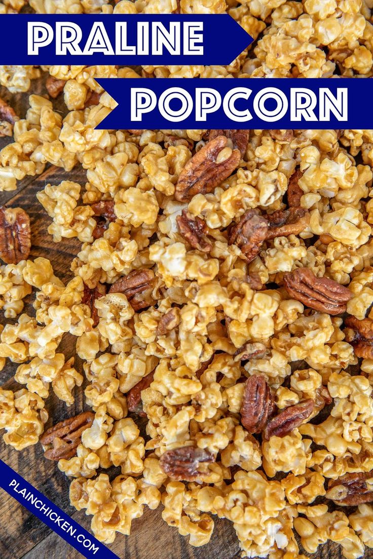 Pralinen-Popcorn – macht süchtig !! Soooo gut! Süß und Salzig in jedem Bissen! …