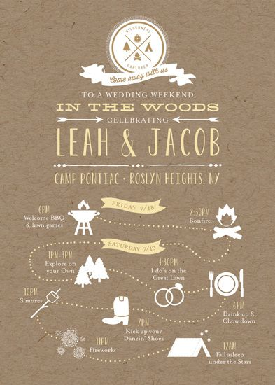 wedding invitations - Camp Love by Dea and Bean - love this idea! could make a little less american and a little more australian bush.... :)