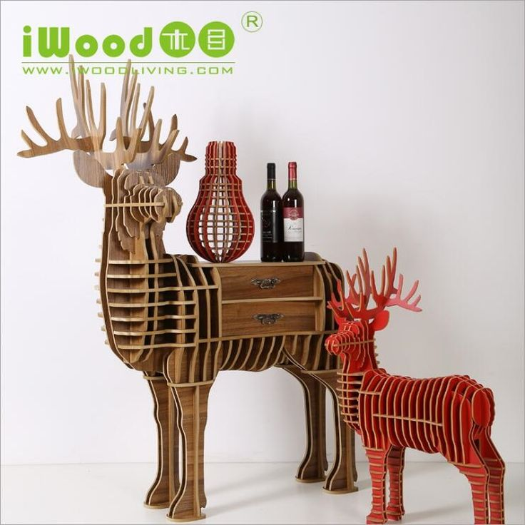 635.99$  Watch here - http://aliu6g.worldwells.pw/go.php?t=32696846820 - European-style wooden ornaments creative home furnishings Continental Shelf Wooden Crafts Nordic Home Elk deer Bookshelf