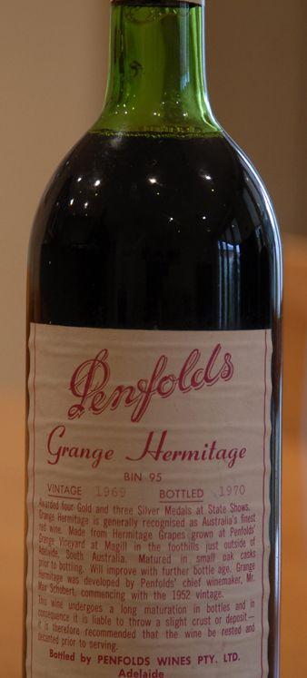 1969 PENFOLDS Bin 95 Grange Hermitage