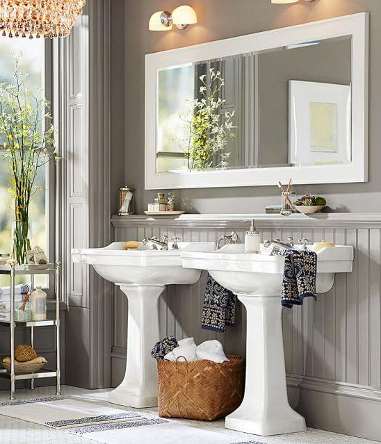 Bathroom Decorating Ideas Pedestal Sink 120 best images about bath on pinterest | shelves, cottage bath