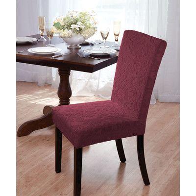 madison home velvet damask parson chair slipcover reviews wayfair parsons chair slipcovers