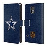 Official NFL Football Dallas Cowboys Logo Leather Book Wallet Case Cover For Samsung Galaxy S5 / S5 Neo