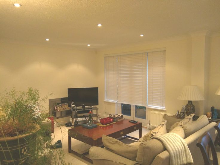 Chalk Wood Venetian Blinds To French Doors In Living Room | Hove