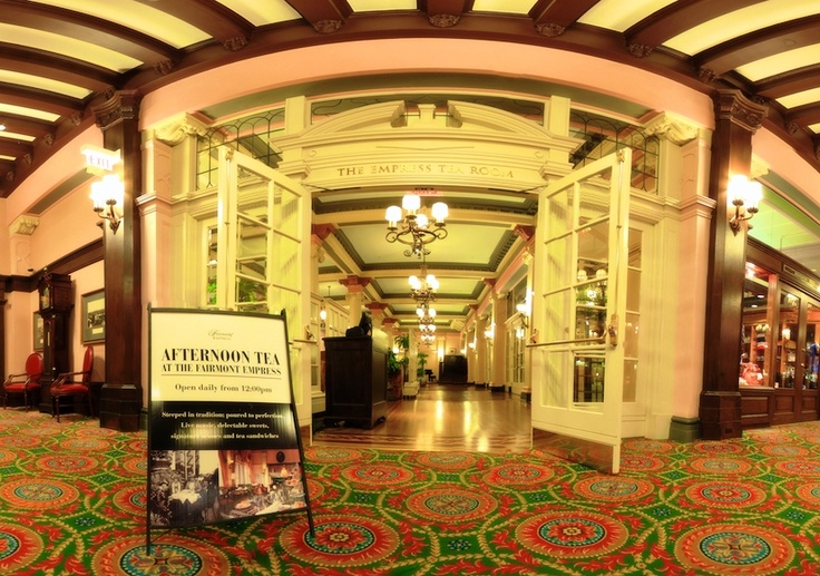 Panoramic view of The Fairmont Empress Tea Lobby from Doug - one of our colleagues