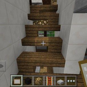 Instagram photo by modernminecrafter - Stair Ideas!! #stairs #minecraft #mcpe #minecraftpocketedition #modern #house #modernhouse #interior #interiordesign