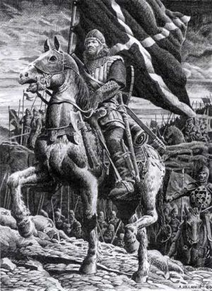 Wallace led the Scottish rebellion against Edward I and inflicted a famous defeat on the English army at Stirling Bridge. He is remembered as a patriot and national hero. William Wallace was named by Protector of Scotland but he was captured and executed after his defeat in battle of Falkirk (1298).