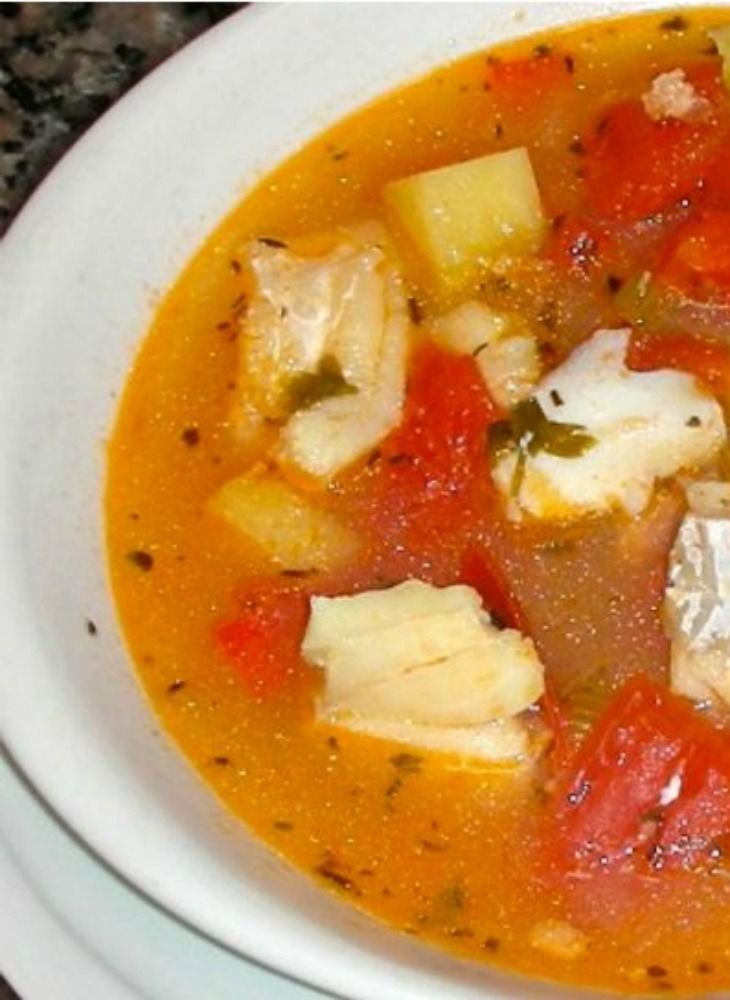 Fish and Tomato Soup Recipe. A healthy protein in a clean tomato broth.