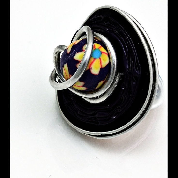 Gorgeous Handmade Nespresso Ring with Fimo Pearl. $21.00, via Etsy.