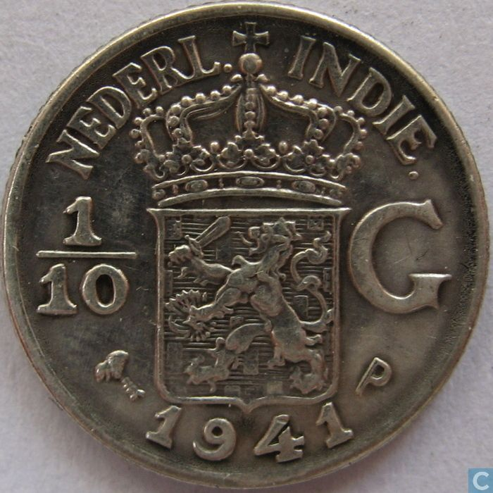Dutch East Indies 1/10 gulden 1941