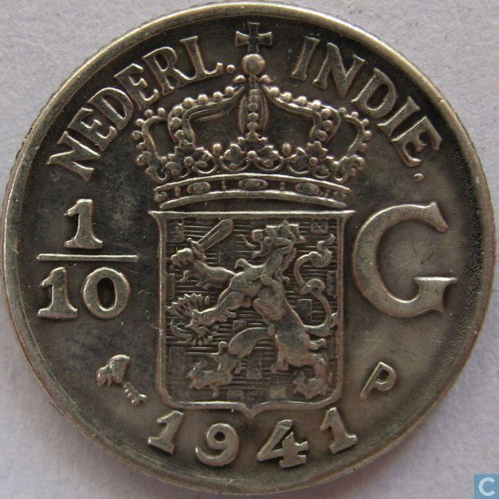 Dutch East Indies 1/10 gulden 1941
