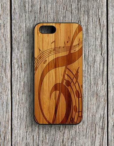 Music Note Art Wood Design iPhone 5 | 5S Case