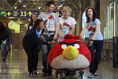 Service angels at work with Mr Angry Bird