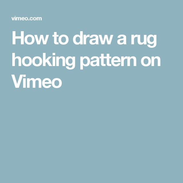 Once your design is on paper, how do you transfer it to rug hooking  backing? Watch as I create a simple rug hooking pattern that is perfectly  on