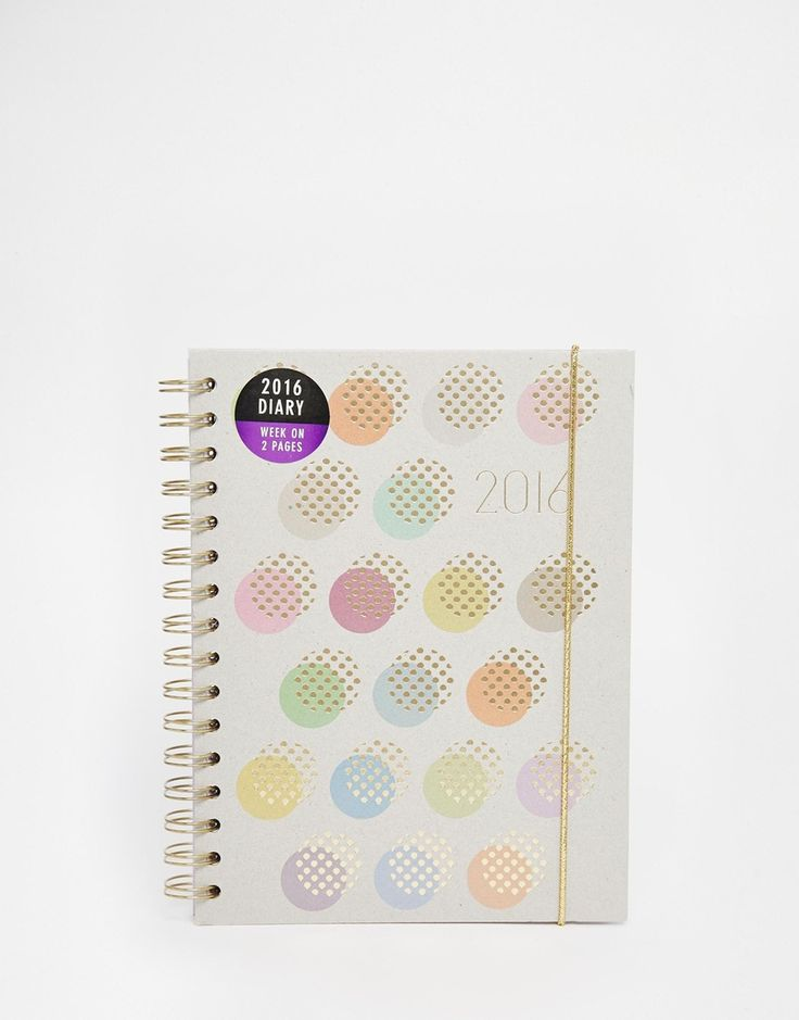 Bild 1 von Paperchase – A5-Tagebuch mit Punkten und Spiralbindung