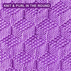 Knit Dimple Stitch In The Round : 1000+ images about knitting on Pinterest Dishcloth, Patterns and Knits