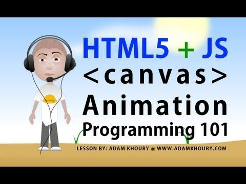 html5 canvas animation basics tutorial for beginners javascript programming lesson - YouTube