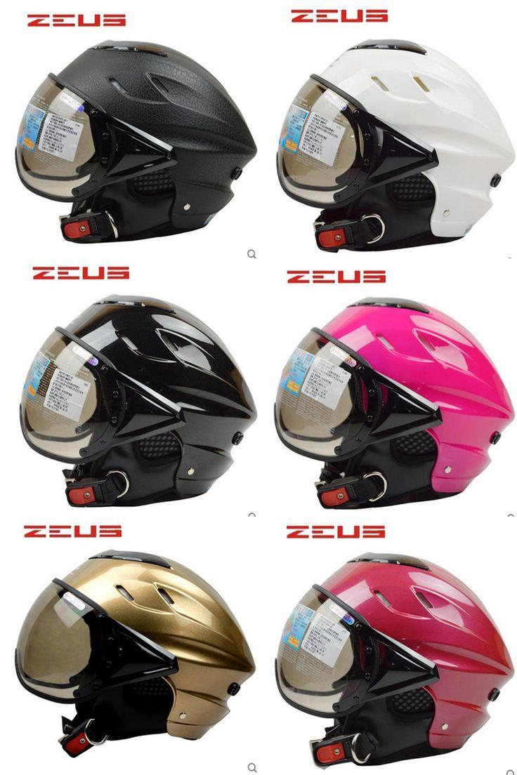 [Visit to Buy] ZEUS 128 half open face motorcycle helmet Casco Capacete, Gourd scooter helmet, Free shipping, harley Jet Vintage helmet, ECE #Advertisement
