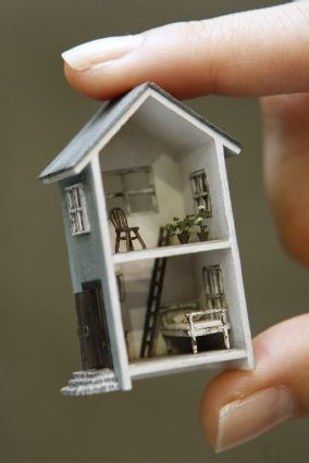 This tinier than tiny mini house. | 41 Dollhouses That Will Make Wish You Were A Tiny Doll